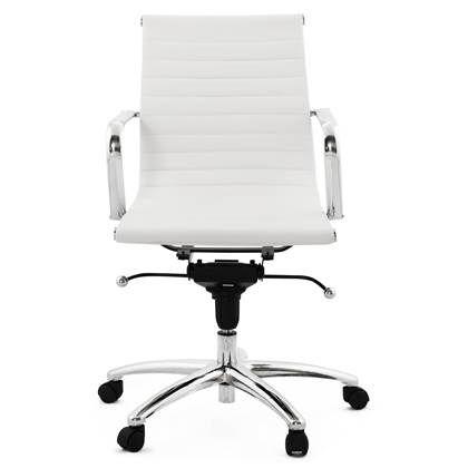 Witte Bureaustoel Leenbakker.24designs Bureaustoel Milaan Lage Rugleuning Wit Design