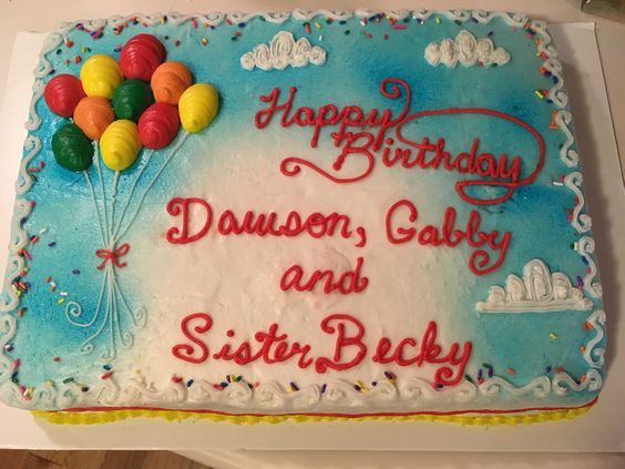 Group birthday cake for all ages!