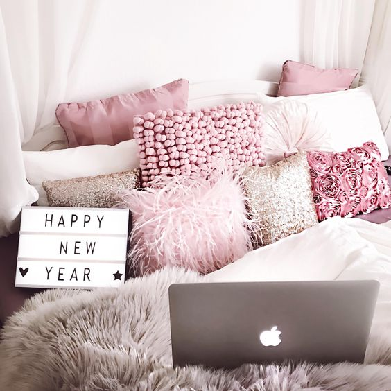 Pink makes for great dorm room decor!