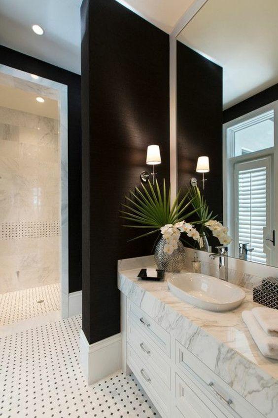 8 badezimmer deko moderne bader badezimmer in schwarz und weis, Moderne deko