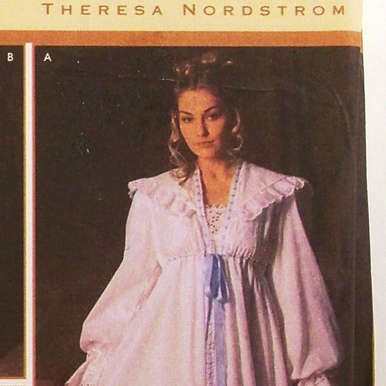 victorian nightgown robe pattern uncut size large xlarge simplicity 5188