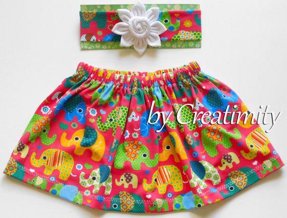 Baby girl skirtgirl skirtbaby girl setbaby by CreatimityCasual