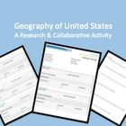$3.60 This is a collaborative group activity in which students are assigned one of the 50 states to further investigate its geography, history, people, s...