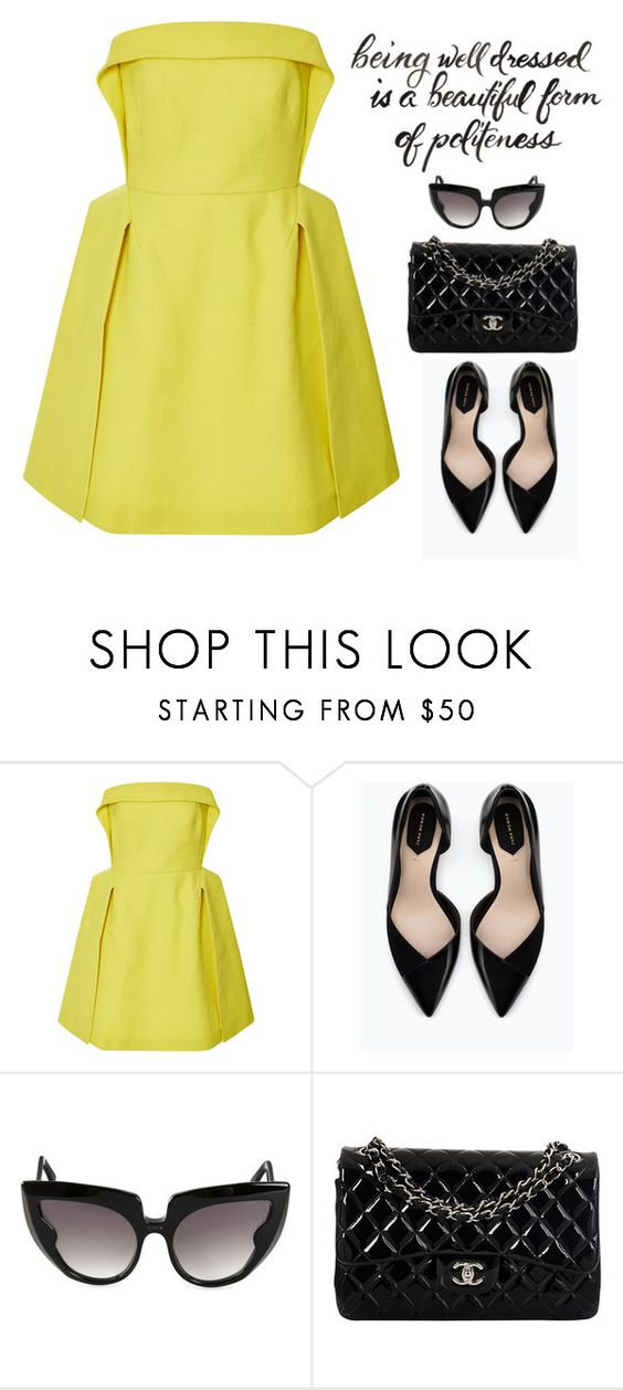 """""""DelPozo"""" by fra3 ❤ liked on Polyvore featuring Delpozo, Zara, Barn's and Chanel"""