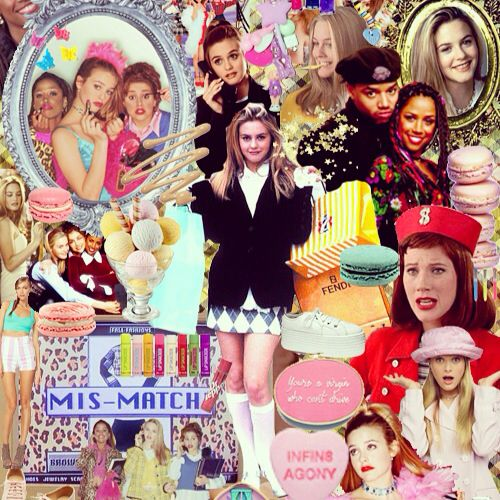 clueless 90s cute girly fluffy cher collage pink fun retro