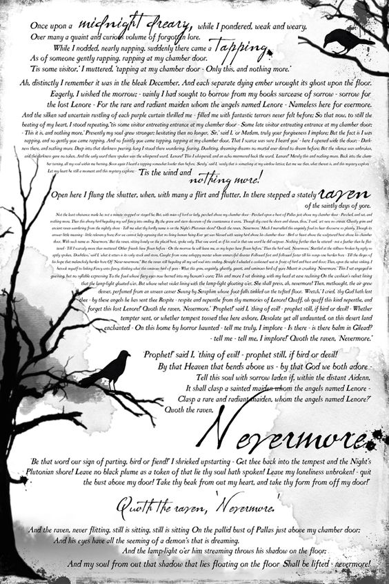 "book inspired #halloween #mantle and free #printable of Edgar Allen Poe's ""The Raven"""