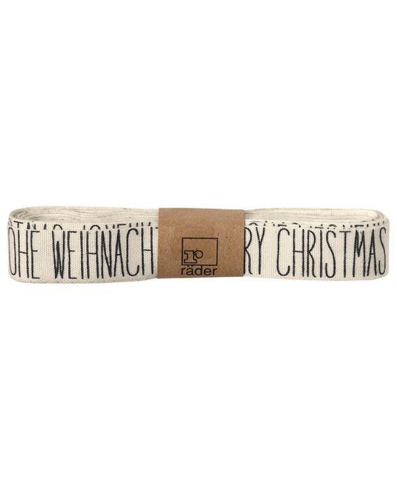 Winterwald Stoffband Merry Christmas One Size   räder   geliebtes-zuhause.de