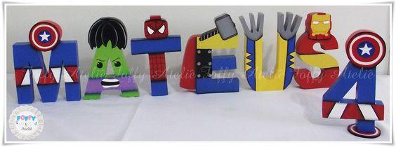 Letras e Número Personalizados Lego Heróis | por FOFFY - Arte em MDF