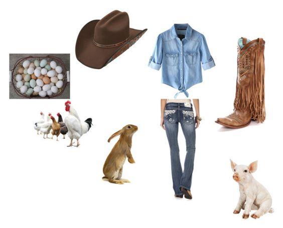 """farm day"" by alexjaidej ❤ liked on Polyvore featuring Chicnova Fashion"