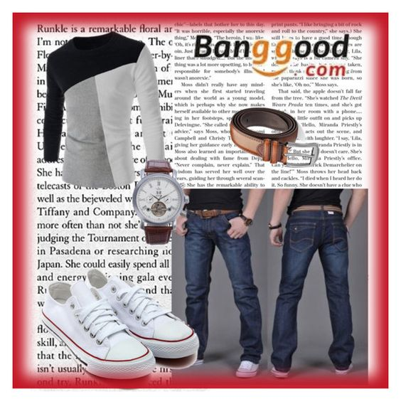 """""""Banggood III/2"""" by a-camdzic ❤ liked on Polyvore featuring men's fashion and menswear"""