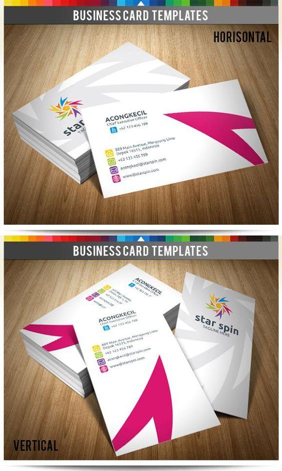 Premium business card star spin v2 creative business card premium business card star spin v2 creative business card templates creative business card templates pinterest premium business cards reheart Choice Image