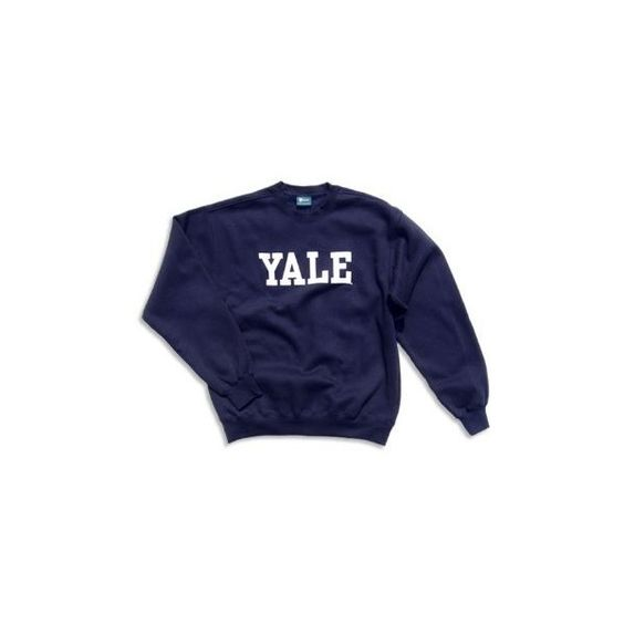 Yale sweater (120 BRL) ❤ liked on Polyvore featuring tops, sweaters, shirts, sweatshirts, blue top, shirt top and blue shirt