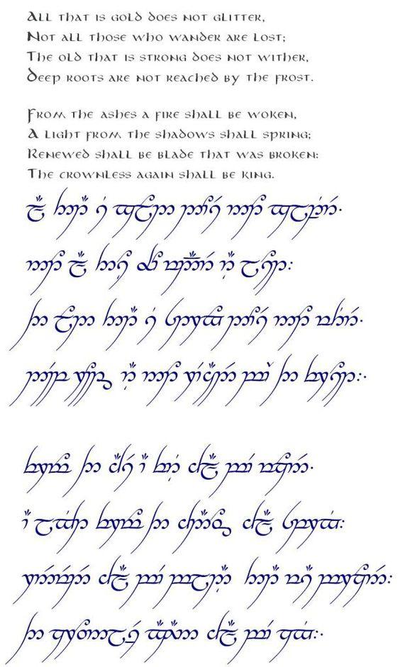 One Ring Poem Sindarin