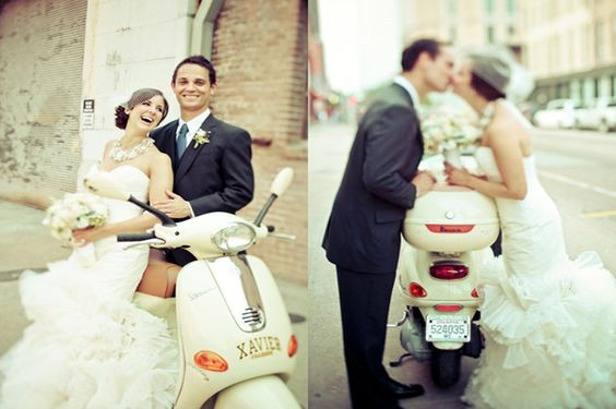 Love this picture of the fun loving couple. www.beesweddingdesigns.com  www.kellyisnice.com