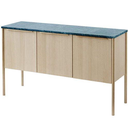 Skagerak Jut Cabinet In Oak And Green Marble Danish Scandinavian Nordic Design Modern Rustic Office Supplies Office Supplies Diy Marble Office Supplies