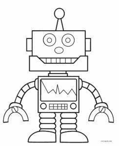 Free Printable Robot Coloring Pages For Kids Cool2bkids Coloriage Robot Livre De Couleur Coloriage Gratuit