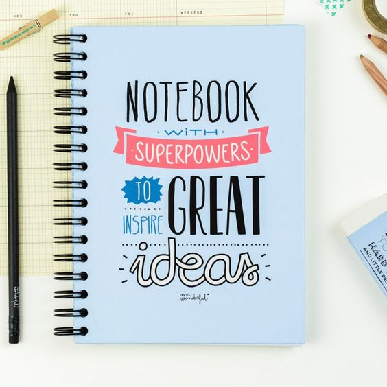 """Notebook """"Superpowers great ideas"""""""