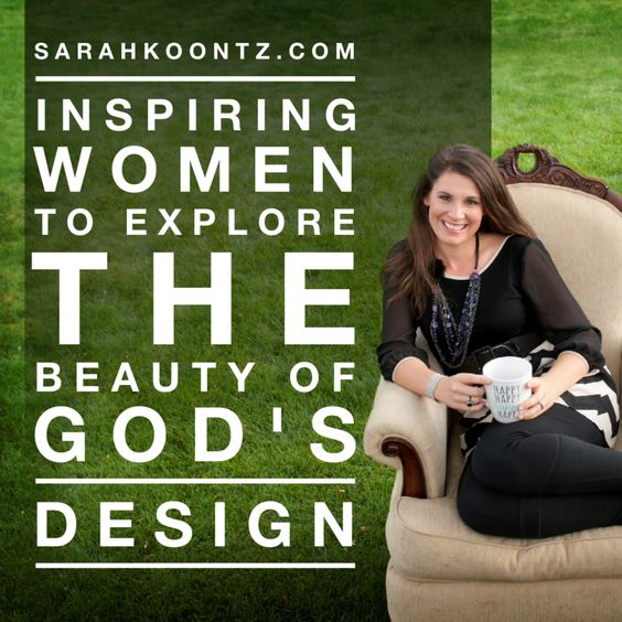 Sarah Koontz invites women of all ages to explore the beauty of God's design. She is a passionate storyteller who enjoys using illustrations to communicate deep spiritual truths. Sarah lives on 13-acres in South Dakota with her husband, two daughters and a rowdy flock of 30 chickens. She revels in their simple, uncluttered life.