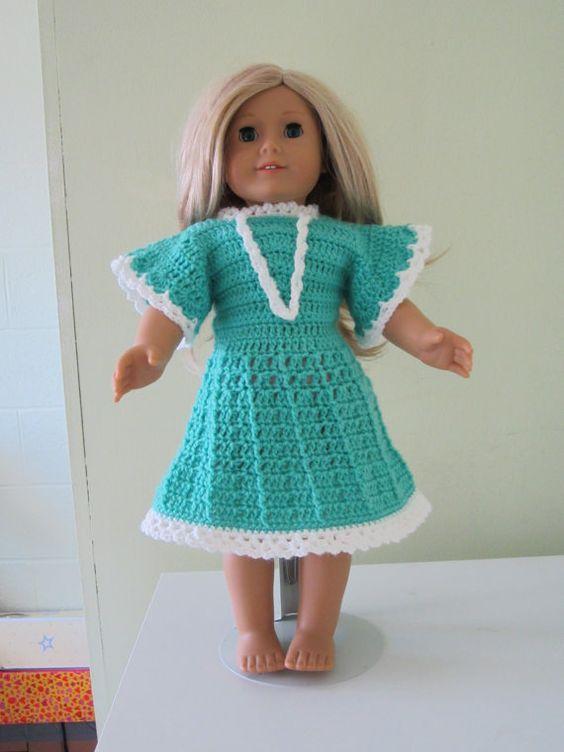 Crochet American girl doll dressesour generation 18 by GalyaKireva, $25.00