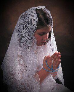 APRENDENDO A SER CATÓLICA: Por que usar o Véu na Santa Missa?