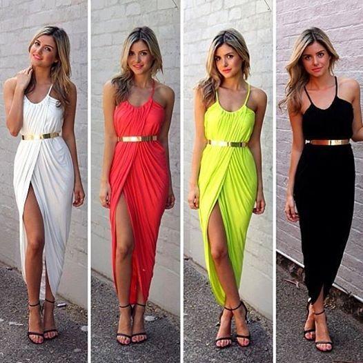 Lindos vestidos en colores para todos los gustos