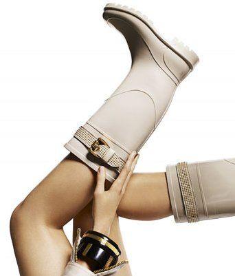 Burberry Rhinestone Studded Rain Boots