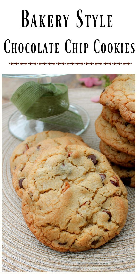 Homemade Bakery Style Chocolate Chip and Pecan Cookies - Oh my you're ...