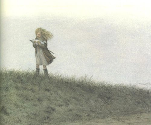 One of Angela Barrett's illustrations from The Snow Goose
