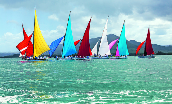 """According to Jean-Marie Chelin, the author of """"Patrimoine Maritime de L'Ile Maurice"""" (The Maritime Heritage of Mauritius), regattas have been held in the island since1874. The best known is still the Mahébourg regatta with its colourful parade of sails in the historical bay between September and March."""
