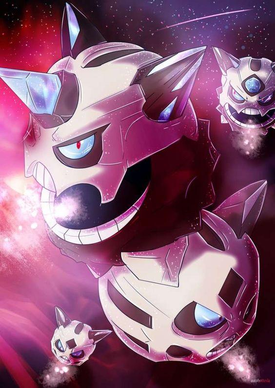 mega glalie the beared ice ball of the pokemon world