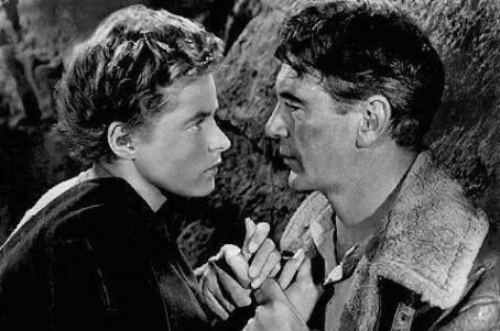 """Ingrid Bergman and Gary Cooper in """"For Whom The Bell Tolls""""."""