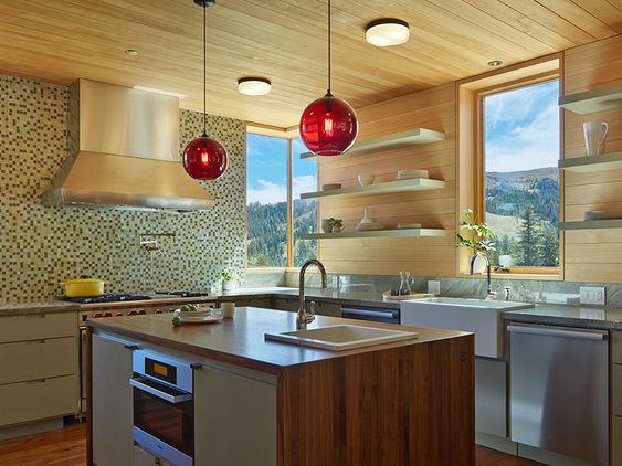 How many pendant lights should be used over a kitchen island? http://tinyurl.com/z4ocvw4