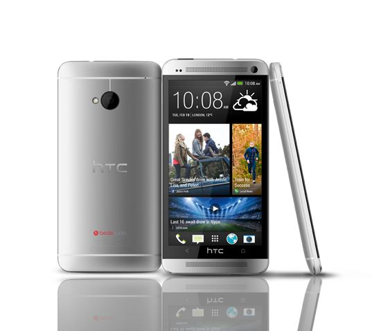 The HTC One is a smartphone which runs Android 4.1 Jelly Bean with the new HTC Sense 5.0 interface. The device features a 4.7 inch touch display with an FHD resolution, up to 64GB of internal storage, a 4 megapixel camera with UltraPixel technology which is capable of 1080p HD video capture, a secondary camera for video calls and is powered by a 1.7GHz quad-core processor with 2GB of RAM.