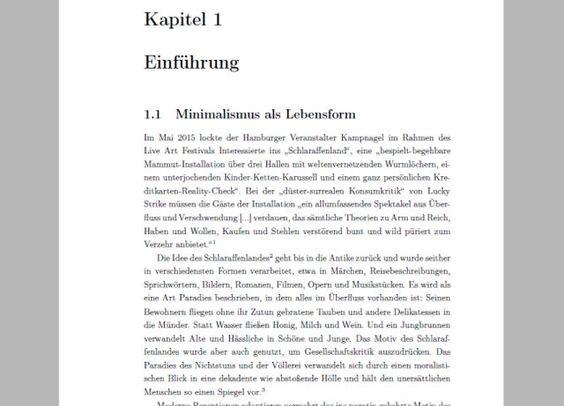 """Masterarbeit """"Minimalismus zwischen Downshifting und Konsumverzicht"""" von Julia Susann Helbig als Download"""