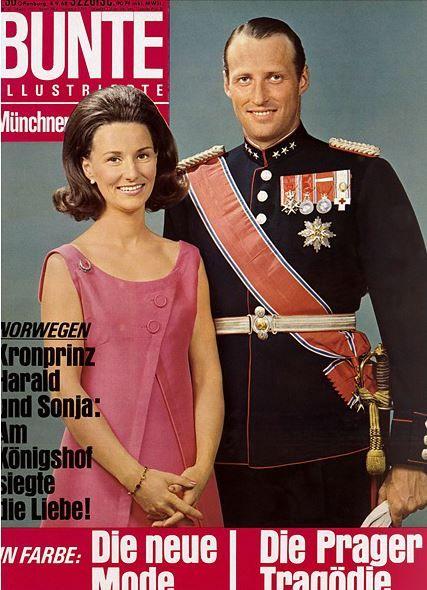 1968: Harald von Norwegen und Sonja Haraldsen