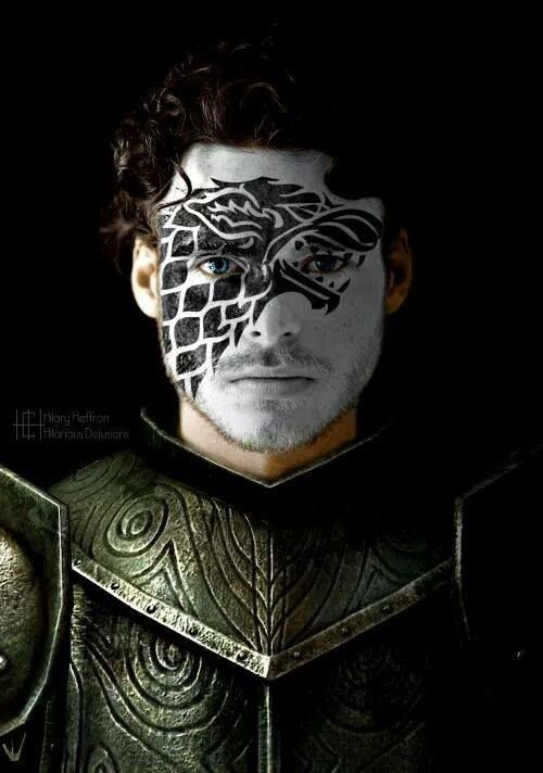 Robb Stark  | Game of Thrones War Paint by Hilary Heffron - Hilarious Delusions