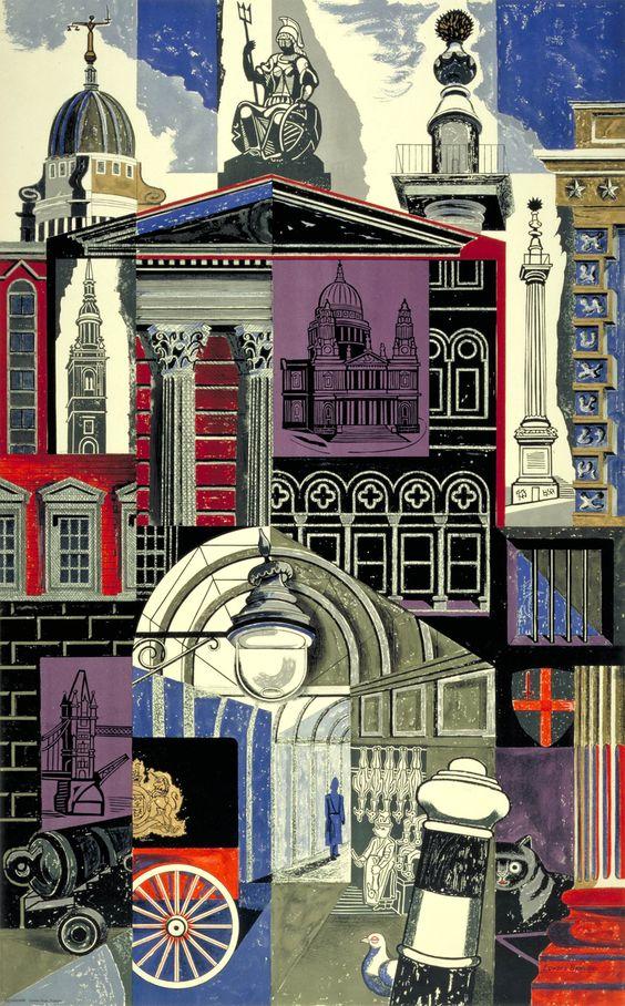 London Underground poster  1952, Edward Bawden