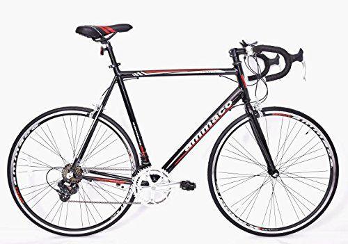Ammaco Xrs650 Mens Alloy Racing Road Bike Shimano 14 Speed Frame 64cm Black Red Bicycle Gear Bike Gear Road Bike