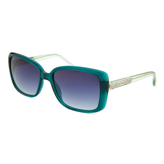 Guess Rectangle Women's Sunglasses | 58mm | Teal by Designer Sunglasses on Brands Exclusive
