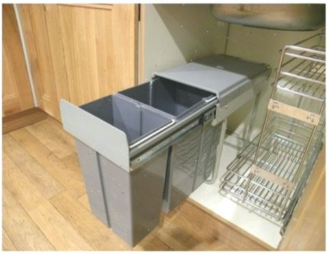 New 40l 2x20 Pull Out Kitchen Waste Bin Recycle Bin Under Sink Cabinet Sale Smallkitchenideasstorage I Kitchen Waste Bin Kitchen Waste Cabinets For Sale