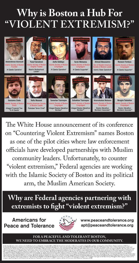 Why is President Obama cozying up to Boston's Islamic extremists? http://peaceandtolerance.org/2012-07-26-13-33-42/countering-violent-deception-campaign/ … / Why is President Obama cozying up to Boston's Islamic extremists? http://peaceandtolerance.org/2012-07-26-13-33-42/countering-violent-deception-campaign/ …: