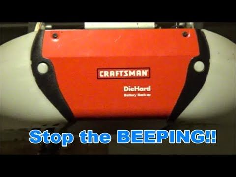 How To Replace The Backup Battery On A Craftsman Garage Door Opener Craftsman Garage Door Opener Craftsman Garage Door Garage Doors