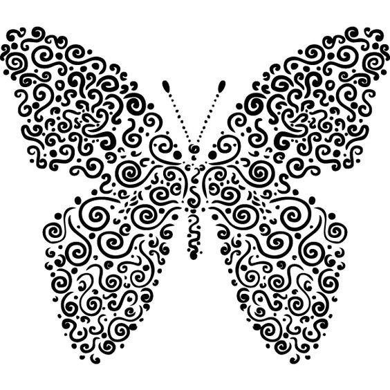 Kunstnerisk sommerfugl wallsticker