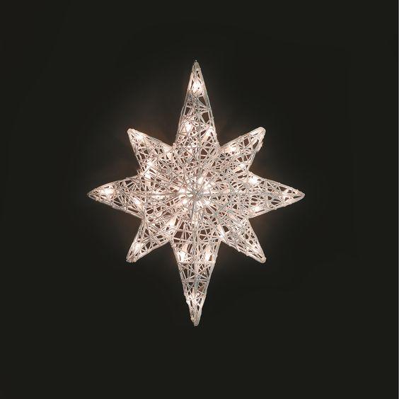 Christmas Decorations Star Of Bethlehem : Spun bethlehem star christmas outdoor light decoration