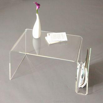 table basse porte revues plexiglass maison cadeaux. Black Bedroom Furniture Sets. Home Design Ideas