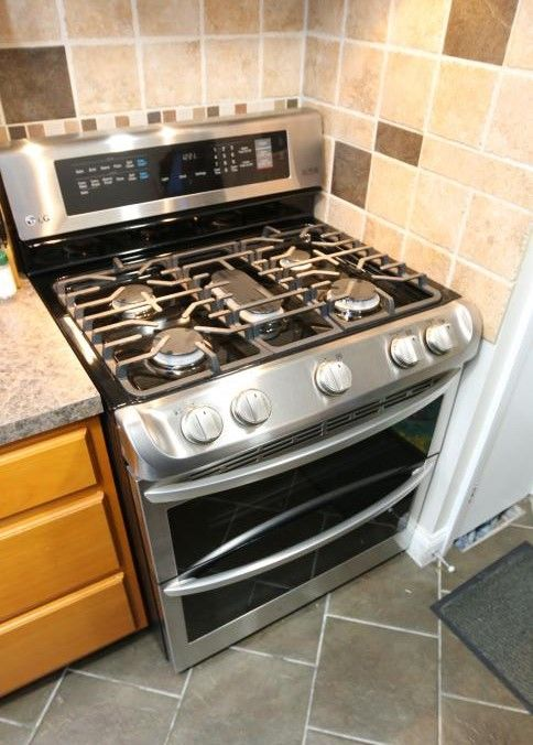 Item 1 Lg Stainless Five Burner Gas Stove With Two Separate