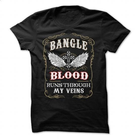 Bangle blood runs though my veins - #grafic tee #christmas sweater. CHECK PRICE => https://www.sunfrog.com/Names/Bangle-blood-runs-though-my-veins-86842943-Guys.html?68278