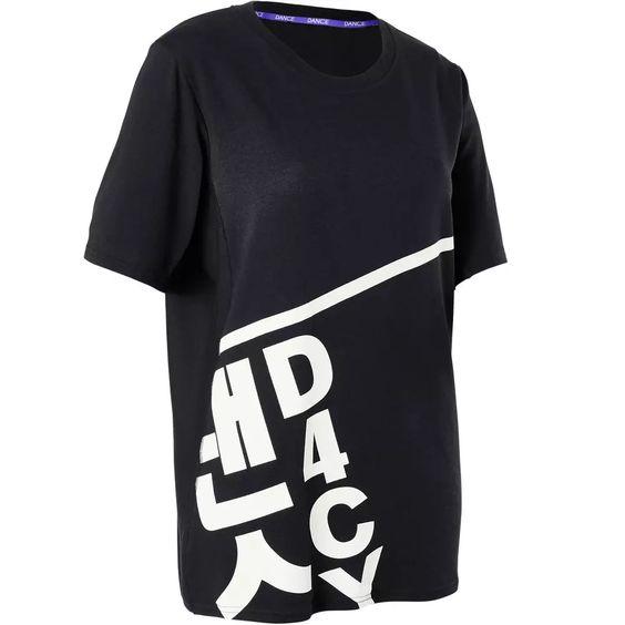 Domyos Wijd dames T-shirt in boyfriend look voor streetdance | Decathlon.nl
