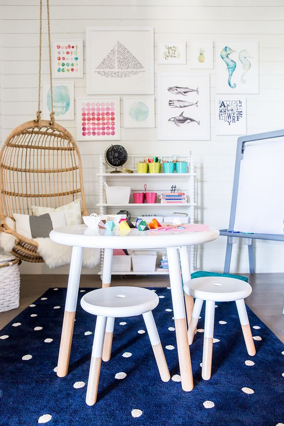Kids room inspiration | Image via Ivory Lane | Riley Play Table: