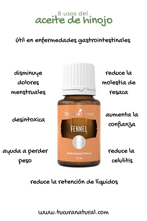 uso del aceite de hinojo